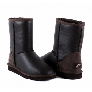 UGG Women Short Metallic - Chocolate