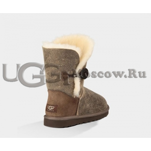 UGG Women Bailey Button Bomber - Chocolate