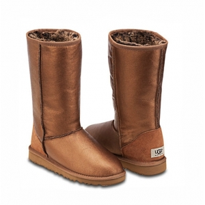 UGG Women Metallic Tall - Bronze
