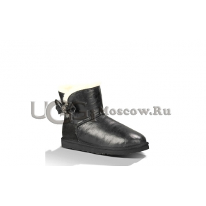 UGG Women Mini Bailey Bow Crystal - Black