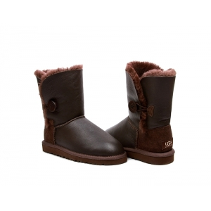Ugg Kids Bailey Button Metallic - Chocolate