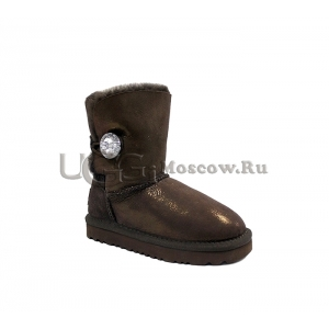 UGG Kids Bailey Bling Glitter - Chocolate