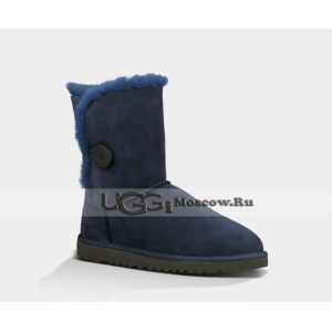 UGG Women Bailey Button Short - Dark Blue