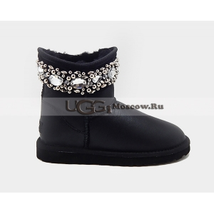 Ugg & Jimmy Choo Crystals Metallic - Black