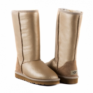UGG Women Classic Tall Metallic - Soft Gold