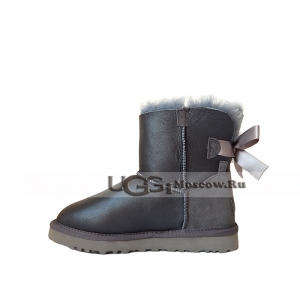 Ugg Women Bailey Bow Metallic Mini - Grey