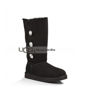 UGG Women Bailey Bling Tall - Black