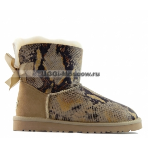 Ugg Women Mini Bailey Bow Snake - Sand
