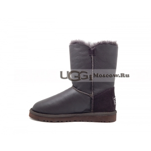 Ugg Women Bailey Button Bling Metallic - Chocolate