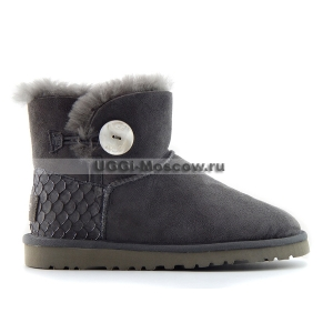 Ugg Bailey Button Mini Perla - Grey