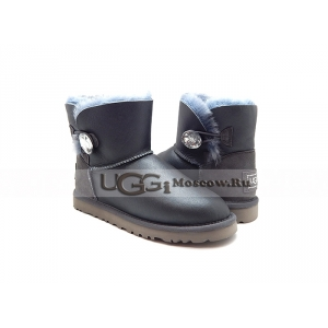 UGG Bailey Button Mini Metallic Bling - Grey
