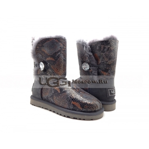 Ugg Women Bailey Bling Snake - Grey