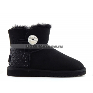 Ugg Bailey Button Mini Perla - Black