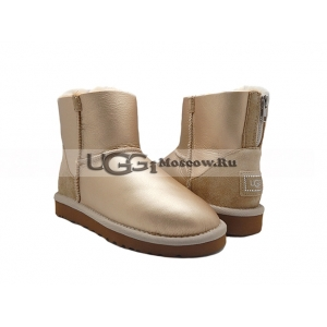 Ugg Women Zip Mini Metallic - Soft Gold