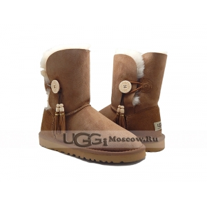 UGG Women Bailey Button Charms - Chestnut