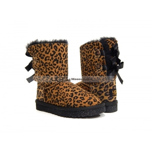 Ugg Kids Toddlers Bailey Bow - Leopard