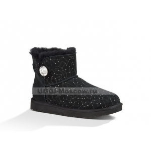 Ugg Bailey Button Mini Bling Constellation - Black