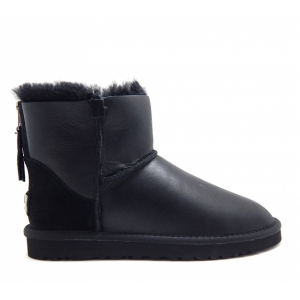 UGG Mens Mini Metallic Zip - Black