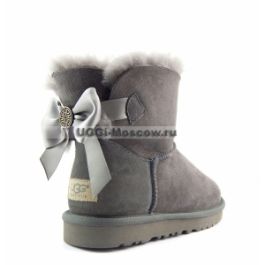 Ugg Women Mini Bailey Bow Medallion - Grey