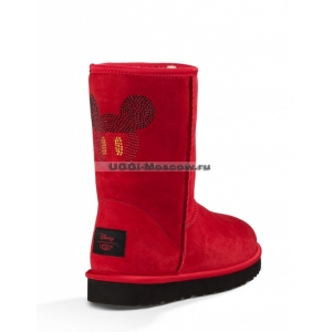 UGG Disney Classic Short Mickey Crystal - Red