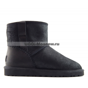 Ugg Women Classic Mini DECO STITCH - Black
