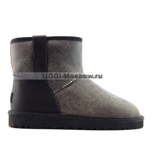 Ugg Women Classic Mini BOMBER STITCH - Black