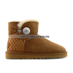 Ugg Bailey Button Mini Perla - Chestnut