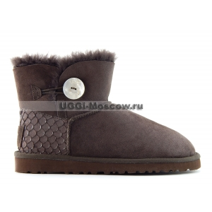 Ugg Bailey Button Mini Perla - Chocolate